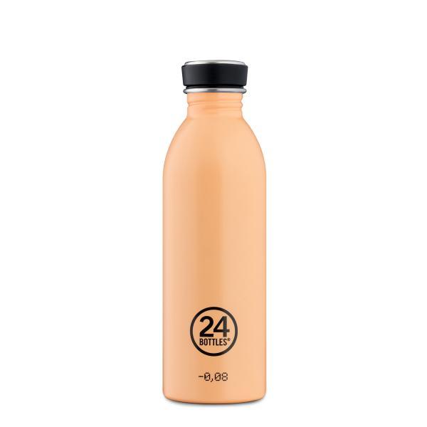 24Bottles Edelstahl Trinkflasche URBAN 500ml Peach Orange