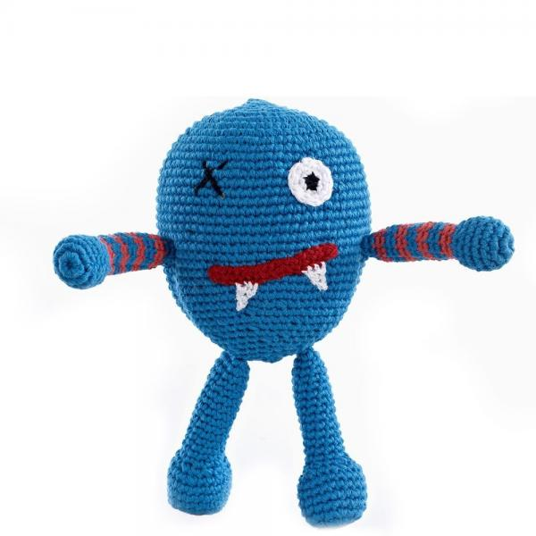 Babyrassel Chubby Monster von Pebble Scary blue
