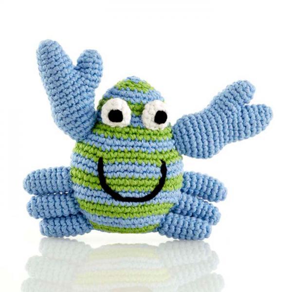 Babyrassel kleine Krabbe von Pebble blau