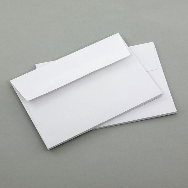 Briefumschläge A6, weiß ohne Fenster 10er Set