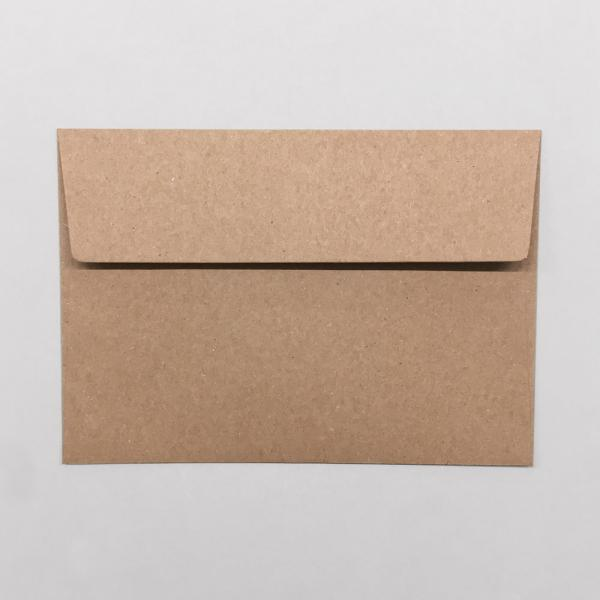 Briefumschläge A6, braun ohne Fenster 5er Set