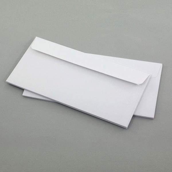 Briefumschläge DIN Lang, weiß ohne Fenster 10er Set