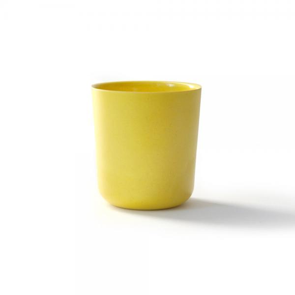 Trinkbecher Medium von Biobu GUSTO gelb