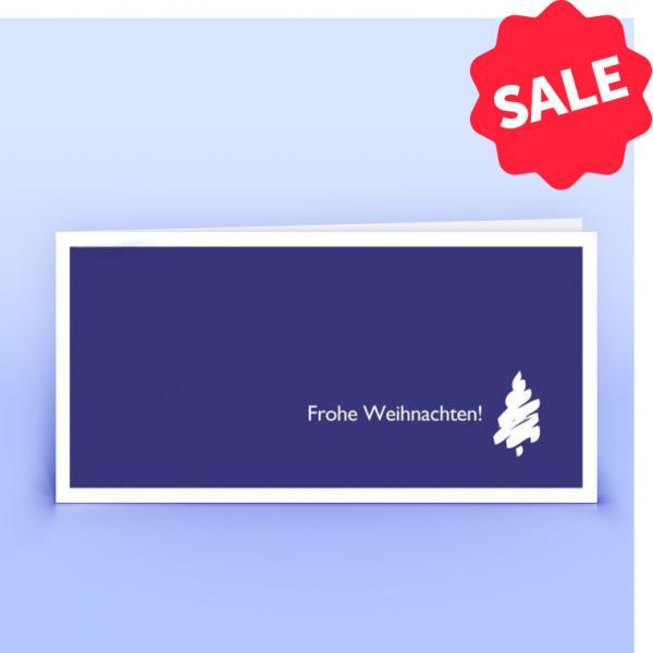 Weihnachtskarte lila mit stilisiertem Weihnachtsbaum - Eco-Cards
