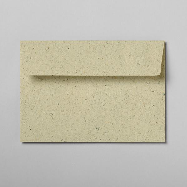 Briefumschlag Graspapier DIN C6