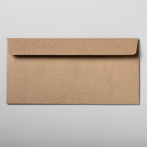 Briefumschlag braun DIN lang