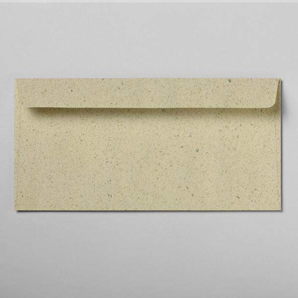 Briefumschlag Graspapier DIN lang