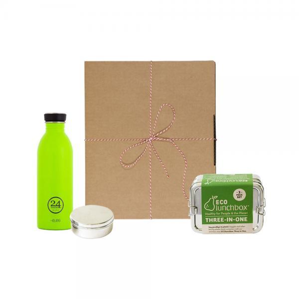 Geschenk-Set Eco-Lunchbox 3in1 lime green