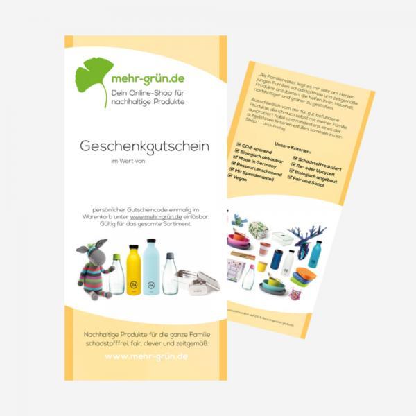 Geschenkgutschein für grüne Geschenke 50 EURO