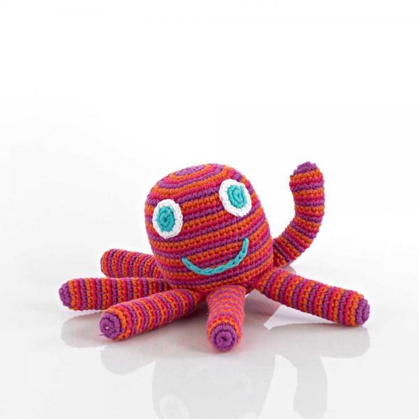Häkel Rassel Octopus von Pebble Oktopus rot