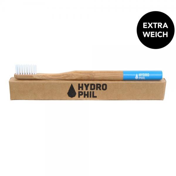 Holzzahnbürste von Hydrophil weich blau