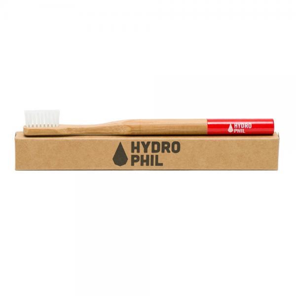 Holzzahnbürste von Hydrophil rot