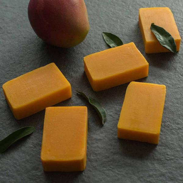Körperseife Mango-Öl Mandarine 100g Valloloko