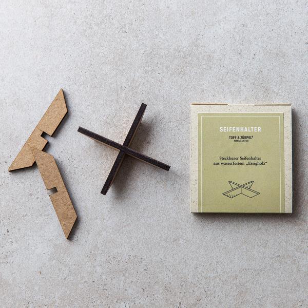 Seifenhalter aus Essigholz von Toff & Zürpel