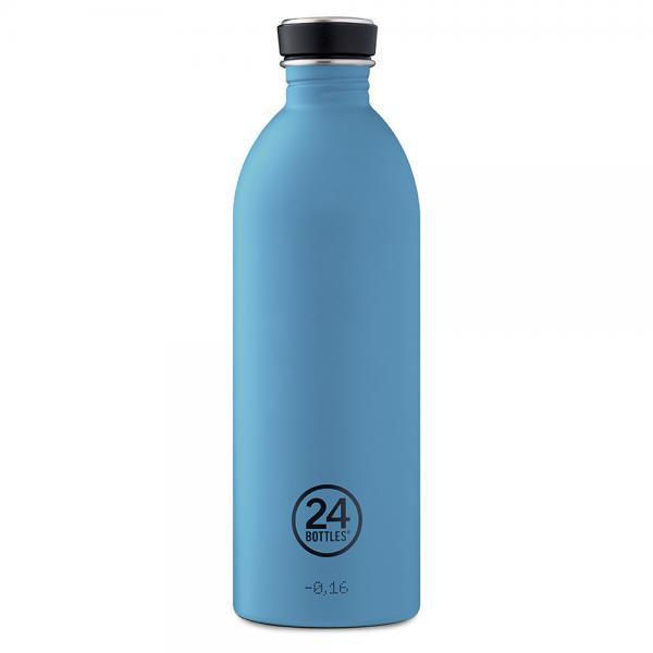 Trinkflasche Edelstahl 1000ml Powder Blue von 24bottles