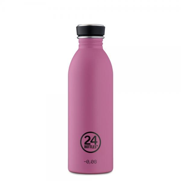 Trinkflasche Edelstahl 500ml  Mauve  von 24bottles