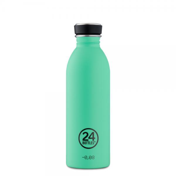 Trinkflasche Edelstahl 500ml URBAN - Mint von 24Bottles