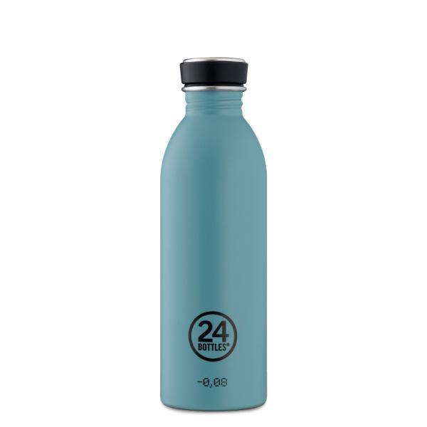 Trinkflasche Edelstahl 500ml URBAN Powder Blue von 24Bottles