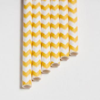 Papier Trinkhalme 6mm gerade 20cm - 20Stück