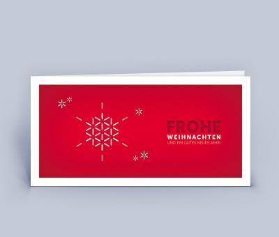 moderne gesch ftliche weihnachtskarte mit schneeflocke f r. Black Bedroom Furniture Sets. Home Design Ideas