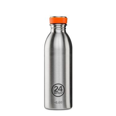 24Bottles Edelstahl Trinkflasche URBAN 500ml steel