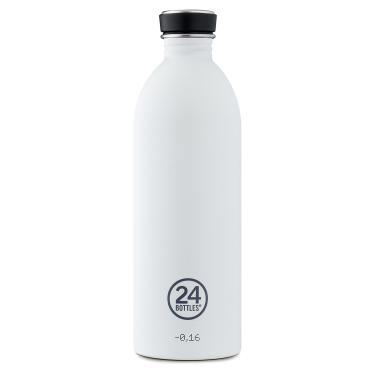 24Bottles Edelstahl Trinkflasche 1000ml Weiß