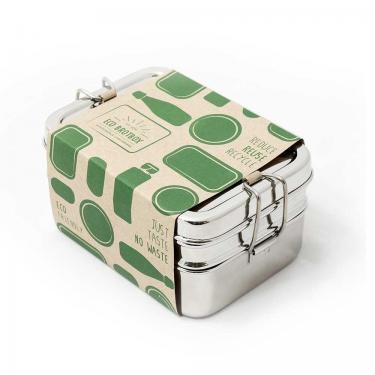 Brotbox Edelstahl Dabba Magic 3 in 1 von Eco-brotbox