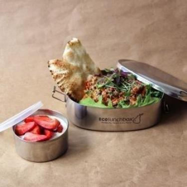 Brotdose 2-teilig, oval von Eco Lunchbox