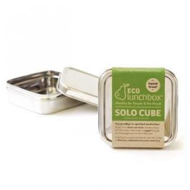 Brotdose aus Edelstahl quadratisch Solo von Eco Lunchbox