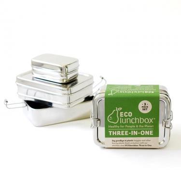 Brotdose Edelstahl 3 in 1 von Eco-Lunchbox