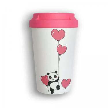 Mehrweg Kaffeebecher To Go - Panda Love - Heybico