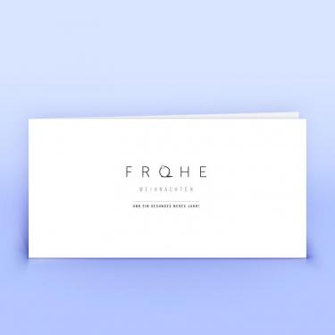 Weihnachtskarte schlichtes Design - Eco-Cards