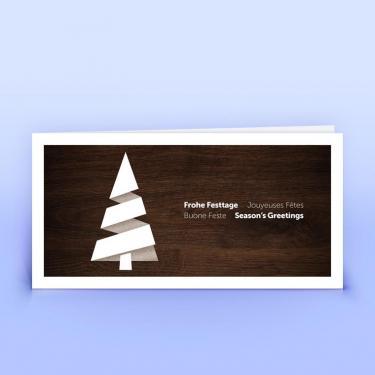Weihnachtskarte Holzdekor - Eco-Cards