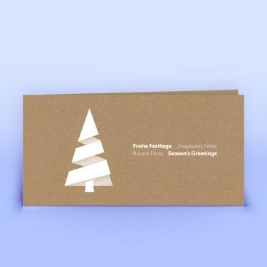 Weihnachtskarte moderner Weihnachtsbaum auf Naturpapier - Eco-Cards
