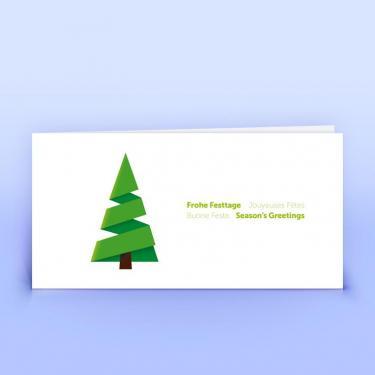 Weihnachtskarte moderner Tannenbaum - Eco-Cards