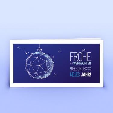Weihnachtskarte moderne Weihnachtskugel - Eco-Cards