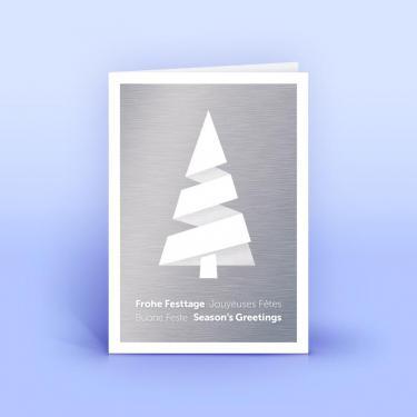 Weihnachtskarte mit modernem Metall-Design A6 - Eco-Cards