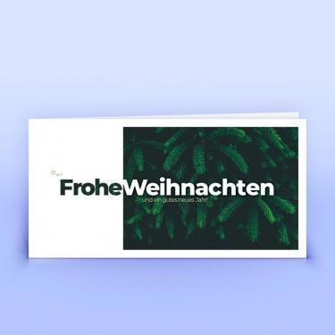 Weihnachtskarte dunkles Tannengrün - Eco-Cards