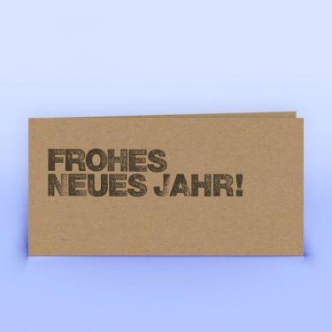 Neujahrskarte auf  Naturpapier - Eco-Cards