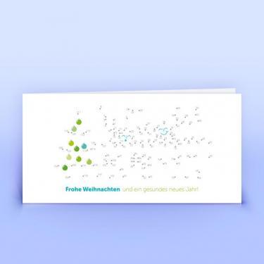 Kreative Weihnachtskarte mit Bilderrätsel - Eco-Cards