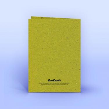 Weihnachtskarte moderner Weihnachtsbaum auf Graspapier A6 - Eco-Cards
