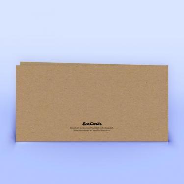 Weihnachtskarte Naturpapier mit Stempeloptik - Eco-Cards