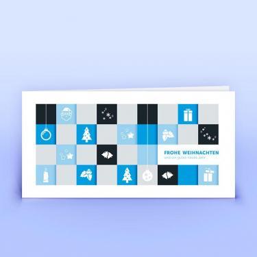Weihnachtskarte blaue Vielfalt - Eco-Cards