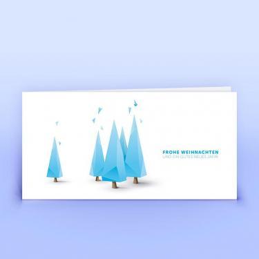 Weihnachtskarte moderne Weihnachtsbäumchen - Eco-Cards