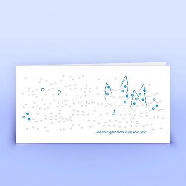 Weihnachtskarte Malen nach Zahlen Illustration - Eco-Cards