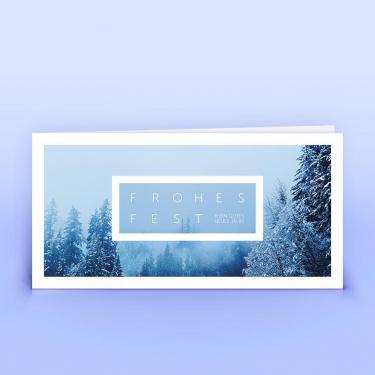 Weihnachtskarte verschneite Landschaft - Eco-Cards