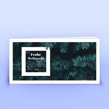 Weihnachtskarte tannengrüne Zweige - Eco-Cards