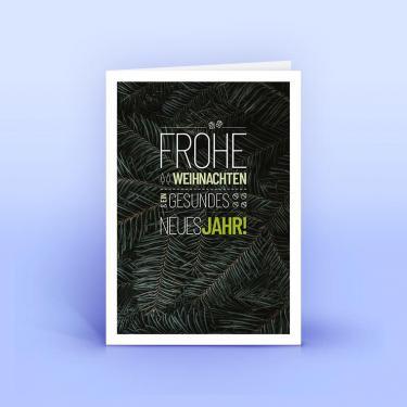 Weihnachtskarte dunkle Tannenzweige - Eco-Cards