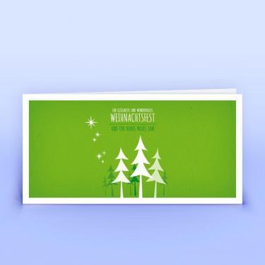 Weihnachtskarte grünes Wäldchen - Eco-Cards