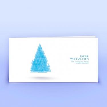 Weihnachtskarte schwebender Baum - Eco-Cards